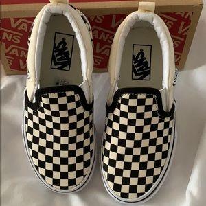 Vans Shoes - NIB Vans Asher Checkers Black natural 12 M youth
